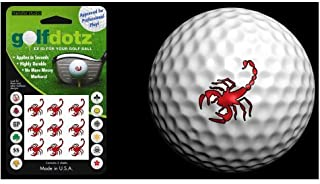 Golfdotz Golf Ball Transfers - Personalize Your Golf Ball - Red Scorpions
