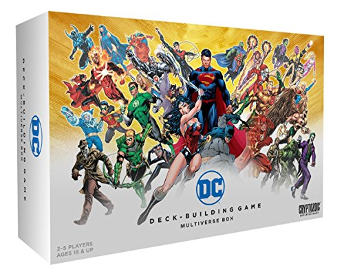 New card Type: events! these happenings create alternate timelines (line-ups) that change things up while they're in play Randomizer cards mean you never know which set of cards will pop up next 100% compatible with your entire DC Comics deck-buildin...