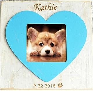 WNGGADH Cadre photo personnalisable pour chien - Cadeau pour chien - Cadre photo rustique - Pour animal domestique - 1 pièce