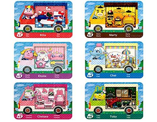 6 Tarjetas NFC para cruces de animales Sanrio Amiibo New Horizons,Minitarjeta de New Leaf ACNH, Compatible con Camper con Switch / Switch Lite / New 3DS