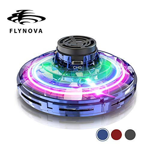 Flynova GOOLY Flying Toy Stress Relief UFO DroneToys Hand Operated Drone Finger Control Drone Free Flight Paths Creative Educational Toy Ideal for Children,Adult,Elderly,Group,Indoor,Outdoor