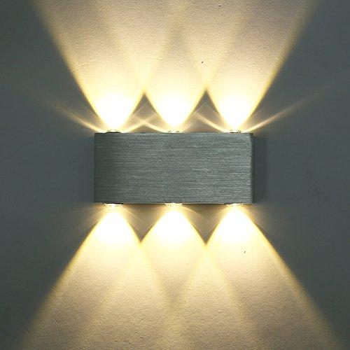 Deckey - Applique da Parete, Lampada LED, in Alluminio, Illuminazione Decorativa per casa, corridoio, Galleria
