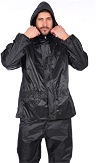 BGROESTWB Snow Rainwear Waterproof Rainproof Light And Reusable Raincoat With Windproof Cap And Reflective Stripes Multifu...