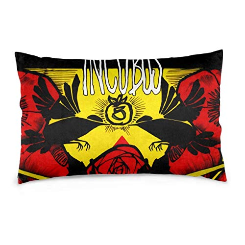 Leisure-Time Incubus Sitting Room Sofa Pillow Covers Soft Household One Pillow Case Multiple Size 20x30in(Does Not Include Pillows)