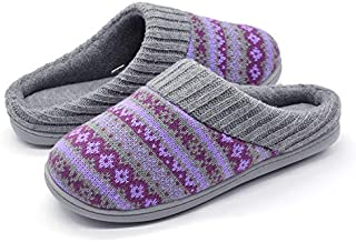 Image of Knit Fair Isle House Slippers for Women - 3 Colors Available