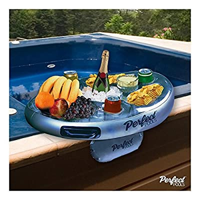 Perfect Pools Official Spa Bar Inflatable Hot Tub Side Tray for Drinks and Snacks - Perfect for Pool Parties!