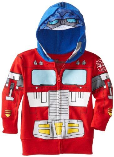 Transformers Optimus Prime Character - Sudadera con Capucha para niño, Rojo, 4 Años
