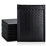 Metronic 25Pcs Poly Bubble Mailers, 6X10 Inch Padded Envelopes Bulk #0, Bubble Lined Wrap Polymailer Bags for Shipping/ Packaging/ Mailing Self Seal -Black