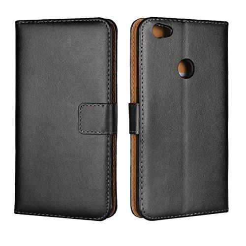 Copmob Xiaomi Redmi Note 5A Hülle,Klassisch Flip Brieftasche Ledertasche Handyhülle,[Multi-Kartenslot][Standfunktion][Magnetverschluss],Schutzhülle Handyhülle für Xiaomi Redmi Note 5A - Schwarz