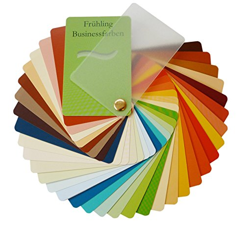Farbpass Business Frühling (warm Spring) als Fächer mit 34 typgechten Farben zur Farbanalyse, Farbberatung