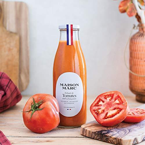 Velouté de tomates 75cl • Maison Marc • Sans herbicide, sans insecticide, sans conservateur • Velouté de légumes Made in France • Soupe de légumes • Le vrai goût de la tomate