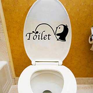 Cute Penguins Pee Wall Toilet Stickers Vinyl Washing Bathroom Decors for Home Decoration 3D Cartoon Decal Sticker on The W...