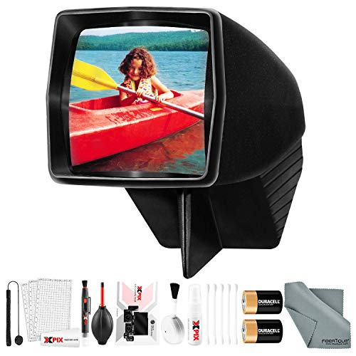 Find Bargain Pana-Vue #1 Lighted 2x2 Slide Film Viewer for 35mm (6560) + Deluxe Cleaning Kit + Batte...