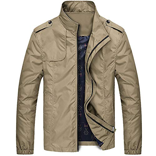 Spring Men's Bomber Jacket Male Fashion Streetwear Hip Hop Coats Mens Outwear Windbreaker Slim Fit Jackets Clothing Khaki