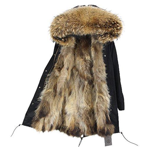 Lea de Marie abrigo de cuello Luxury Parka XXL de 100% Piel...