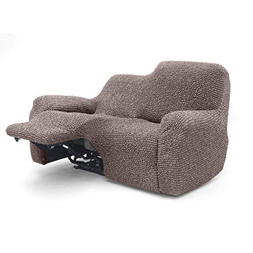 Menotti Sofabezug für 2-Sitzer-Sofa – Sanitized Relax-Bezug Couch-Schonbezug weicher Stoff mit Flügelrücken-Rückenlehne, Stretch-Möbelschutz, Mikrofaser-Kollektion (Choco, 2-Sitzer-Liege)