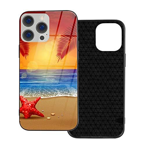 TIOLSKFNF Funda de teléfono compatible con iPhone 12 Series Anti-arañazos marco de vidrio TPU delgado a prueba de golpes funda de protección móvil compatible con iPhone 12 Pro Max-6.7 2020-