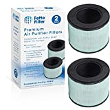 Fette Filter - HEPA Air Filter with 3-in-1 Filtration System Includes Pre-Filter True HEPA Filter and Activated Carbon Filter Compatible with PARTU BS-08. (Pack of 2)