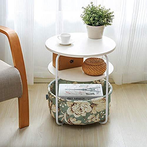 FENGTAB tafel rond opslagrek rekbed opslagrek zijkast koffie balkon afgewerkt onderstel -2/3 laag