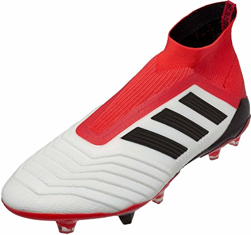 adidas Mens Predator 18+ Firm Ground Soccer Casual Cleats, Red;White, 8.5