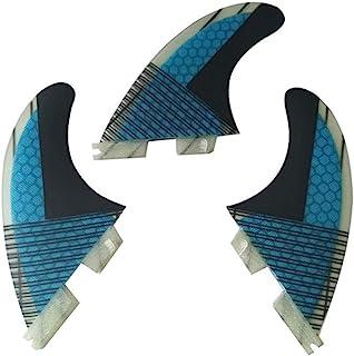 Topways Fiberglass+Honeycomb Surfboard Fin (3) Glass Flex Thruster Surf Fin Set FCS II Style G5 - Tri Fin Thruster Set Sur...