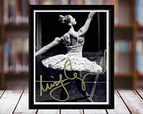 Misty Copeland Autograph Replica Print - Black and White - 8x10 Desktop Framed Print - Portrait