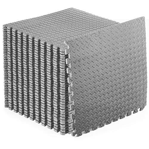 """ProsourceFit Puzzle Exercise Mat ½"""", EVA Foam Interlocking Tiles..."""