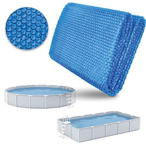 tillvex Pool Solarabdeckplane Rechteckig 800x400 cm | Solarfolie Stärke 120 µm | Solarplane zuschneidbar | Poolheizung für Wassererwärmung