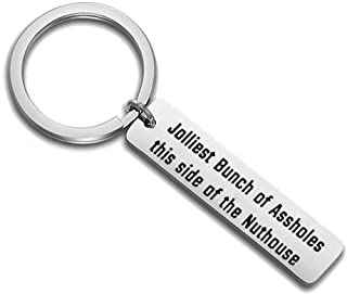 HOLLP Christmas Vacation Keychain Gift Jolliest Bunch of Assholes This Side of The Nuthouse National Lampoons Christmas Vacation Gift