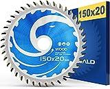 FALKENWALD ® Lama per sega circolare 150 x 20 mm, ideale per legno con 40 denti, 150 x 20 mm, compatibile con TE-CS 18 Li, Makita DCS553, Bosch e altre marche