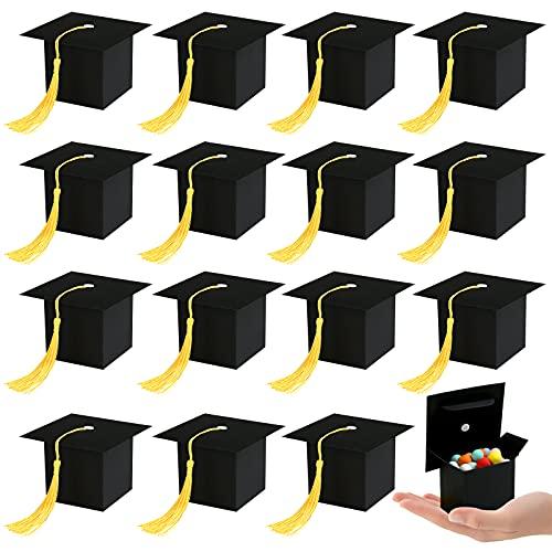 Kesote 24 Abschluss Deko Geschenkbox zum Befüllen Doktorhut Box Abschlussfeier Graduation Cap Bachelor Kisten Prüfung Bestanden Geschenk 2021 Glückwunsch