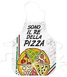 STAMPATEK Grembiule Cucina Divertente Sono Il Re della Pizza Pizzaiolo Grembiuli Idea Regalo