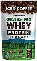 Opportuniteas Grass-Fed Whey Protein(プロテイン) Isolate Iced Coffee(アイスコーヒー) 16oz(454g)15回分