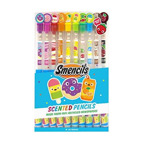 Scentco Graphite Smencils - HB #2 Scented Pencils, 10 Count
