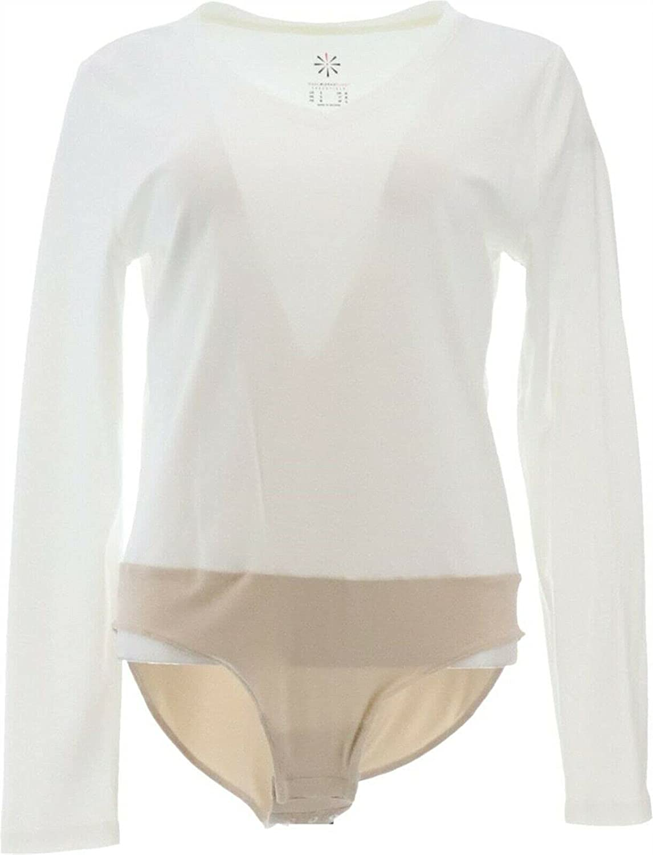 Special price Isaac Mizrahi Essential Pima Cotton Bodysuit Sl A384113 Long Br Louisville-Jefferson County Mall