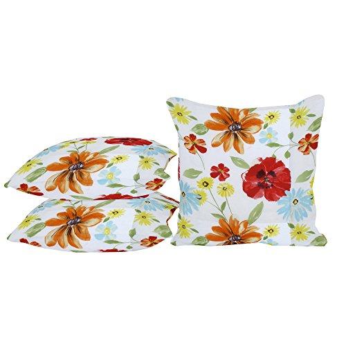 habeig Sitzkissen Kissen Outdoor Wetterfest 50x50 cm Zierkissen Gartenstuhl Auflagen (Blumen #487)