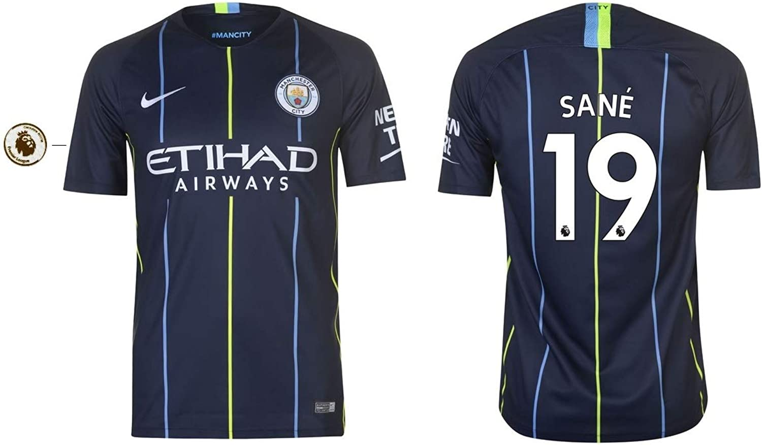 Manchester City F.C. Trikot Kinder 2018-2019 Away PL - Sane 19