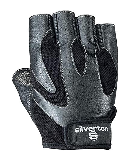 Silverton Fitness–Guantes Matrix, Todo el año, Unisex, Color Negro, tamaño Large