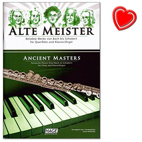 Oude meester voor dwarsfluit en piano - eersteklas verzameling van 29 klassieke werken van Bach over Haydn en Mozart tot Schubert, met werken van barok tot romantiek - muziekboek met muziekklem