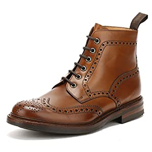 Loake Mens Burnished Calf Bedale Leather Brown Boots 9.5 US