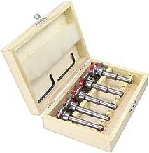 YHtech 5pcs 15-35mm Broca Conjunto, Ajustable de Sierra de Metal Tratamiento de la Madera Agujero for Herramientas manuales Cortador de Madera