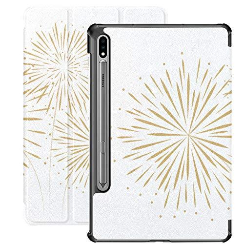 Funda para Samsung Galaxy Tab S7 Plus de Año Nuevo con diseño de fuegos artificiales para Samsung Galaxy Tab S7/S7 Plus, funda para Samsung Galaxy S7 de 11 pulgadas S7 Plus de 12.4 pulgadas