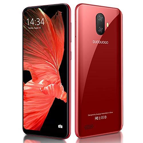 Telefoni cellulari in offerta 4G, Note7P 5.5' Waterdrop Schermo IPS, 3400mAh Batteria Cellulari Offerte, 3GBRAM + 32GB ROM/128GB Espandibili Cellulare, Dual SIM Economici Telefoni Mobile (rosso)