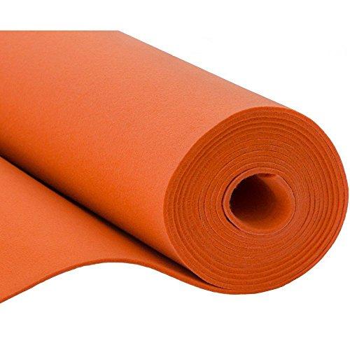 SOFT Filz, Filzstoff, Dekorationsfilz, Weicher Filz, Breite 150cm, Dicke 3mm, Meterware 0,5lfm - orange