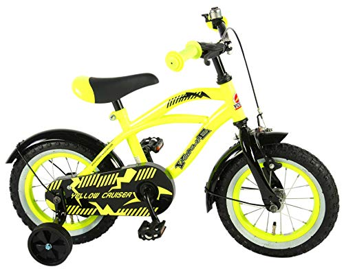 Volare Yellow Cruiser Kinderfiets - Jongens - 12 inch - Geel