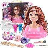 K9CK Trucco e Parrucco per Bambina, Bambola daTruccare Gioco con Molti Accessori, Testa Bambola da Truccare e Pettinare per Piccole Principesse