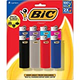 BIC Classic Lighter, Assorted Colors, 8-Pack (Colors May Vary)