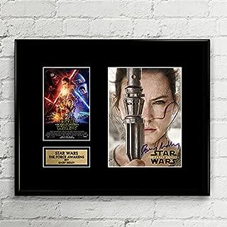 Daisy Ridley Rey Star Wars Signed Autographed Photo Mat Custom Framed 11 x 14 Replica Reprint Rp