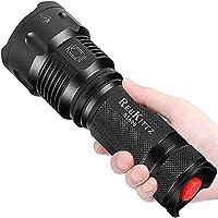 Torche Lampe de Poche LED, Super Grande Lampe de Torche Militaire Tactique Ultra Puissante Ajustable Zoomable Étanche...