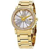 Wittnauer Reloj de mujer cuarzo analógico correa y caja de acero dorado dial plata WN4007